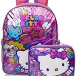 Hello Kitty Girls' Stars and Clouds 15 Inch Backpack with Lunch Kit