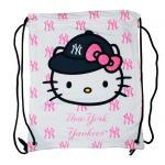 MLB New York Yankees Hello Kitty Drawstring Backpack
