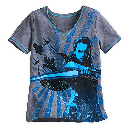 Star Wars The Last Jedi Bad-Ass Rey T-Shirt