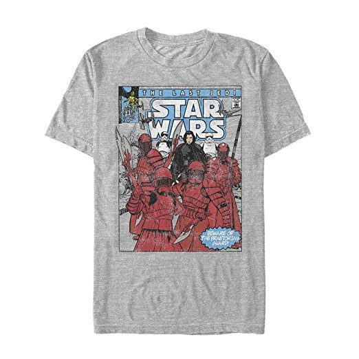 Star Wars The Last Jedi Comic Book Style T-Shirt