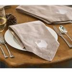 Give Thanks Turkey Embroidered Thanksgiving Dinner Napkins