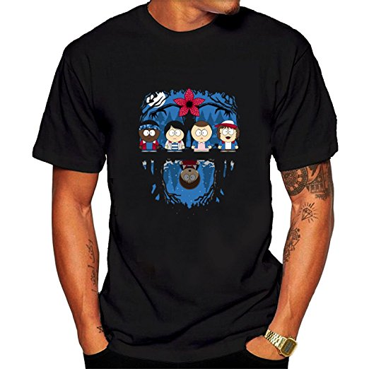 Stranger Things South Park Upside Down T-Shirt