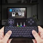 2.4GHz Rainbow Backlit Mini Wireless Remote Keyboard and Mouse with Touchpad