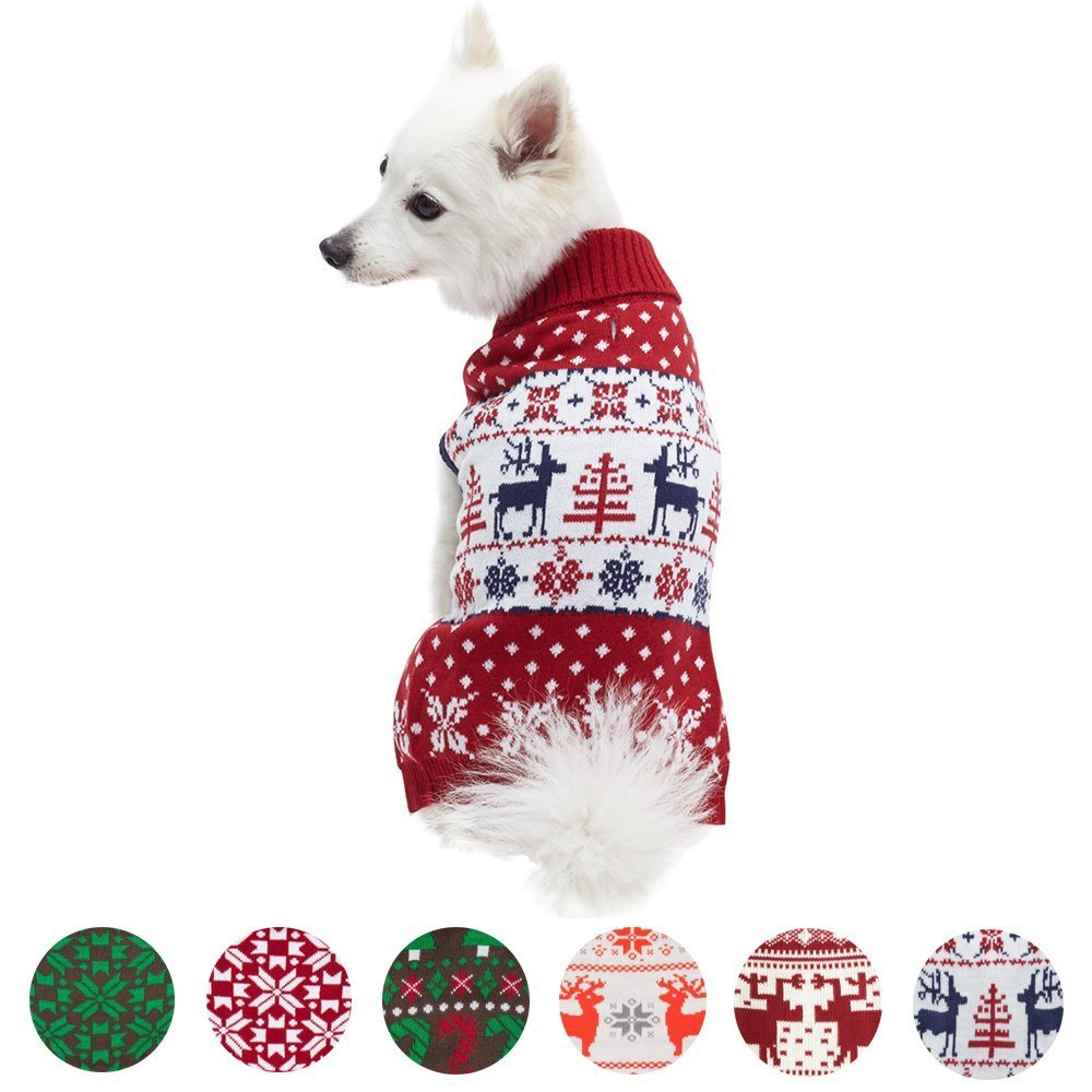 6 Patterns Ugly Christmas Sweater for Dogs