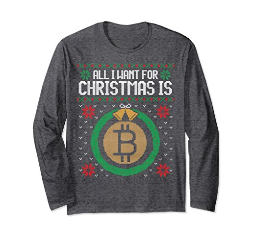 'All I Want for Christmas is Bitcoin' Ugly Sweater