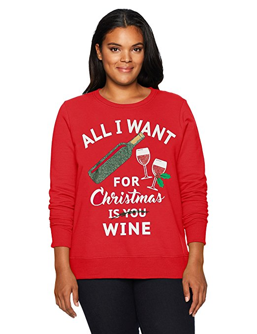 All I Want for Xmas is Wine Ugly Christmas Sweater