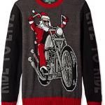 Bad to the Bone Santa Ugly Christmas Sweater