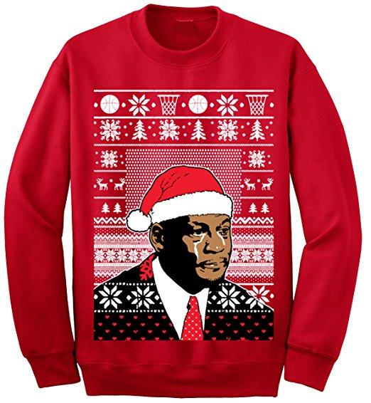 Crying Jordan Ugly Christmas Sweater