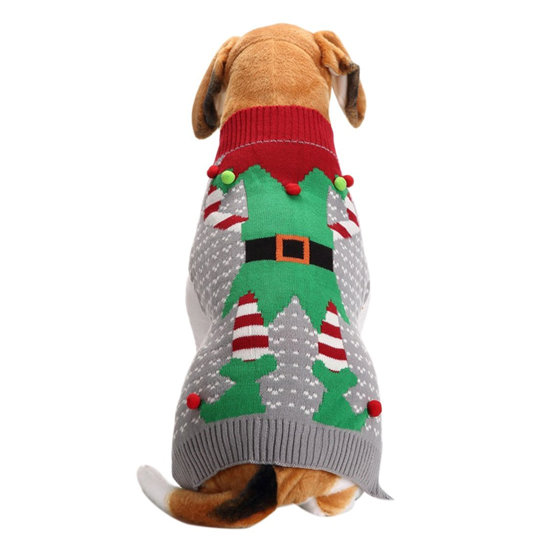 Elf Ugly Christmas Sweater for Dogs