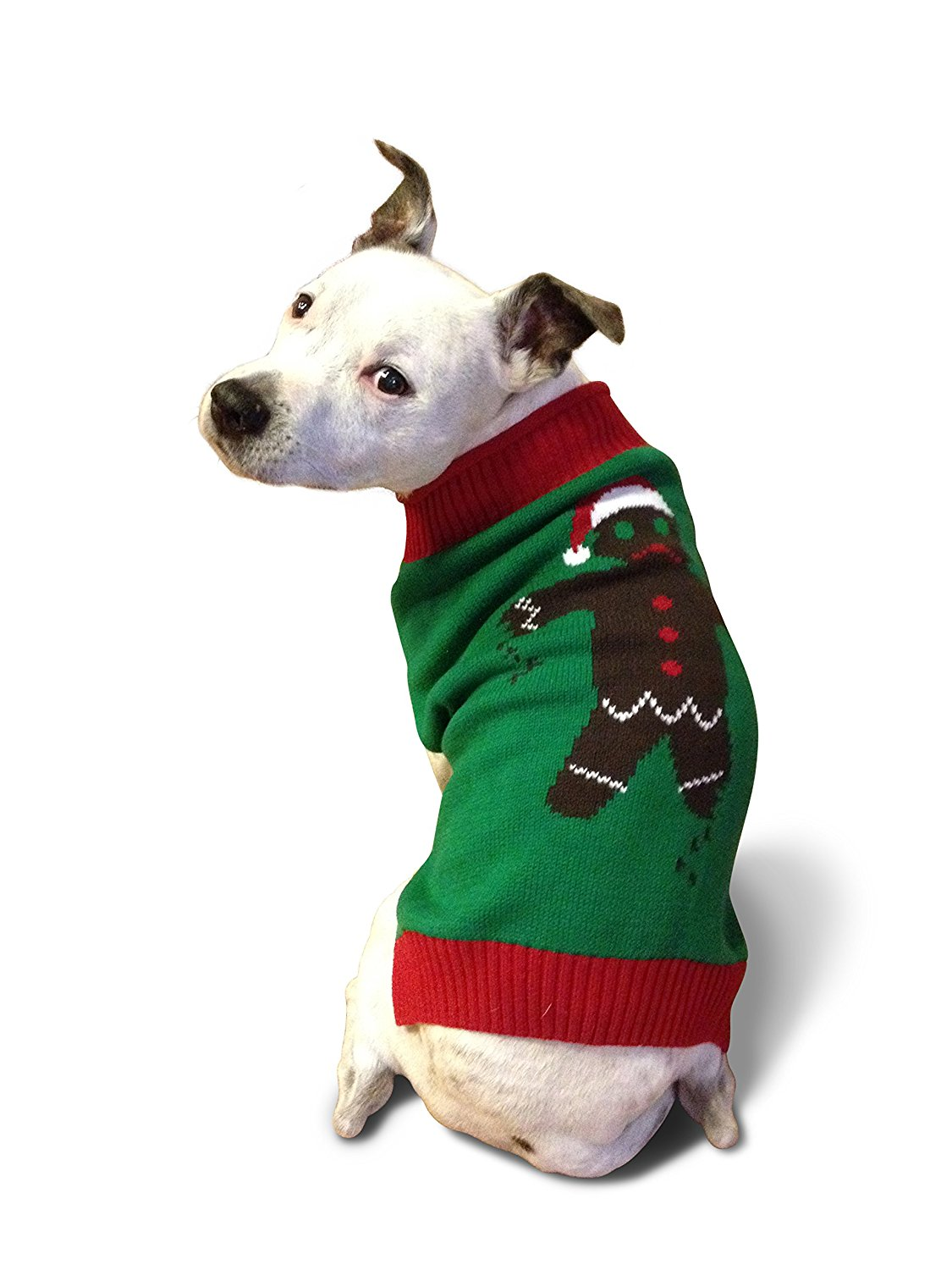 Gingerbread man Ugly Christmas Sweater for Dogs