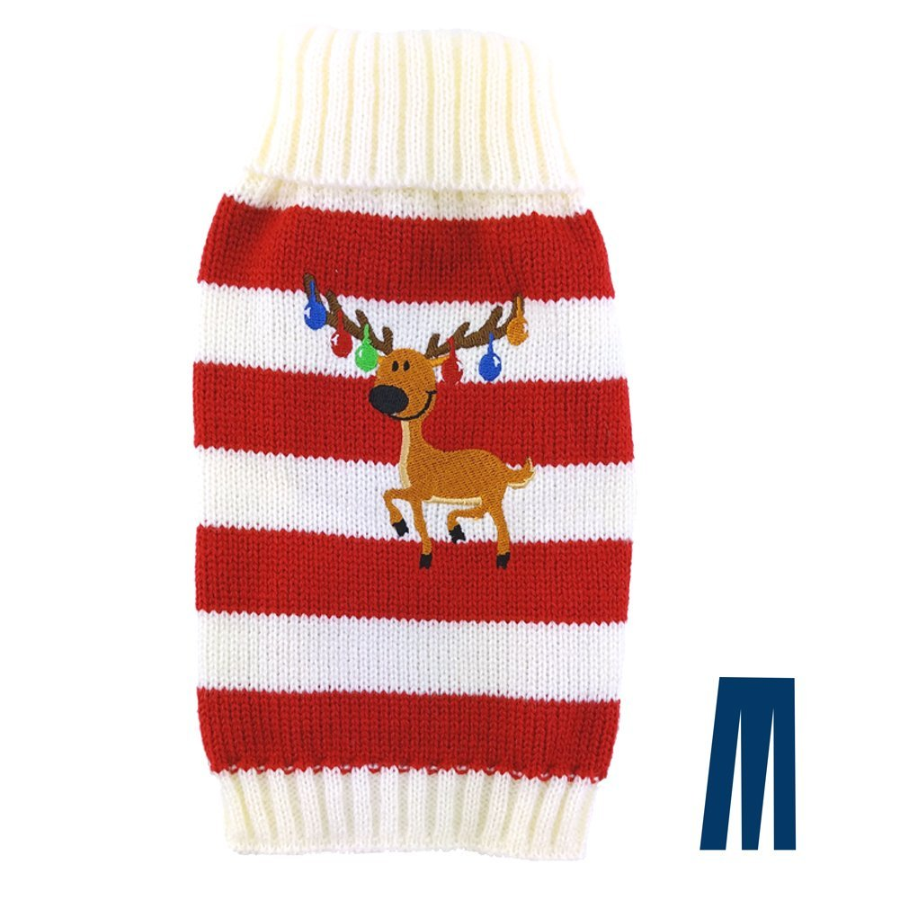 Happy Reindeer Ugly Christmas Sweater for Dogs