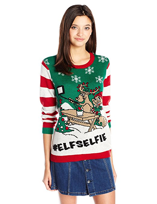 Hashtag Selfie Ugly Christmas Sweater
