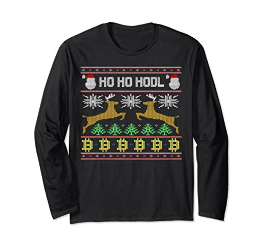 Ho Ho HODL Bitcoin Ugly Christmas Sweater