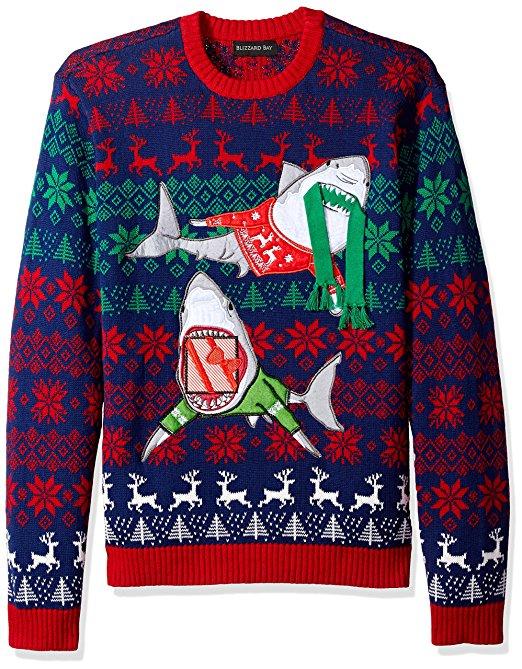 Holiday Sharks Ugly Christmas Sweater