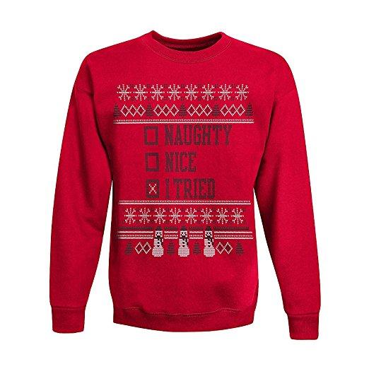 I Tried Ugly Christmas Sweater