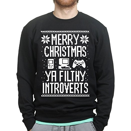 Introverts Ugly Christmas Sweater