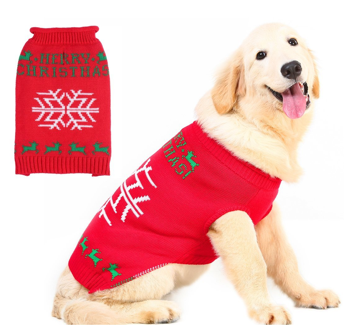 Merry Christmas Sweater for Dogs