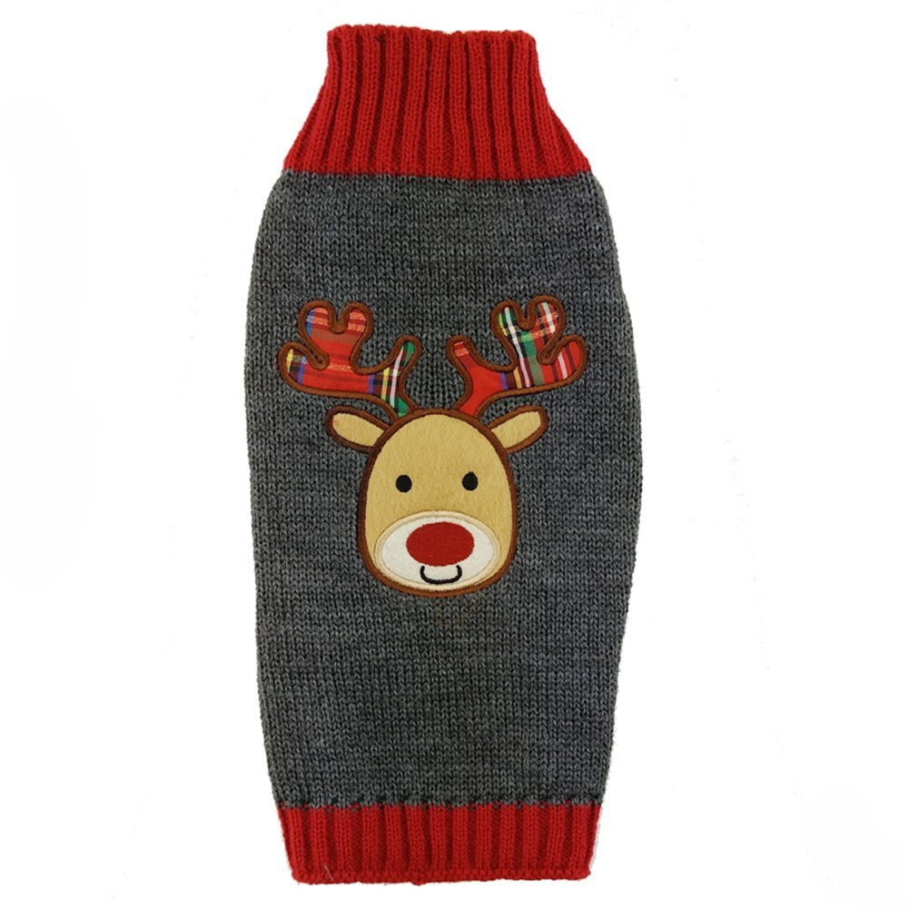 Smiling Reindeer Ugly Christmas Sweater for Dogs