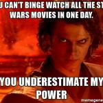 Star Wars Binge Meme