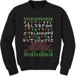 Stranger Things Alphabet Lights Ugly Christmas Sweater
