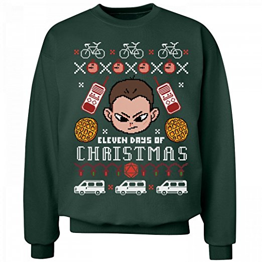 Stranger Things Eleven Days of Christmas Sweater