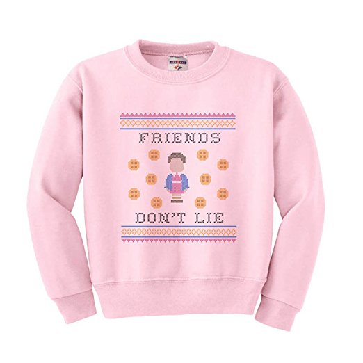 Stranger Things Friends Don't Lie Ugly Christmas Sweater