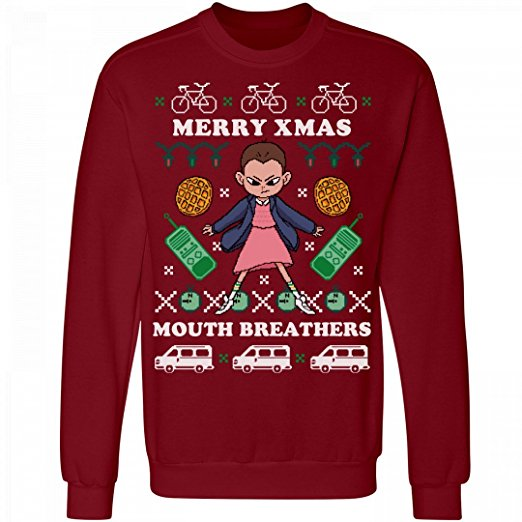 Stranger Things Mouth Breathers Ugly Christmas Sweaters
