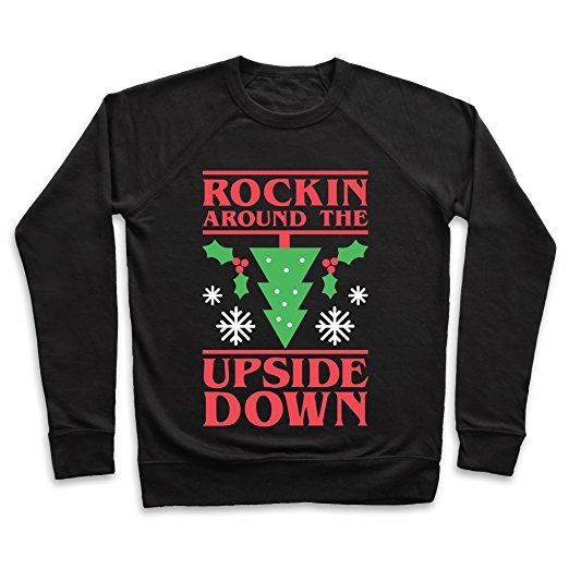Stranger Things Rockin' in the Upside Down Ugly Christmas Sweater