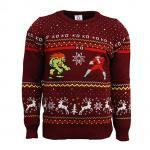 Street Fighter Blanka vs Bison Ugly Christmas Sweater