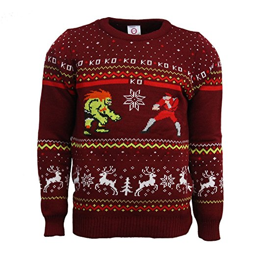 Street Fighter Blanka vs Bison Ugly Christmas Sweater