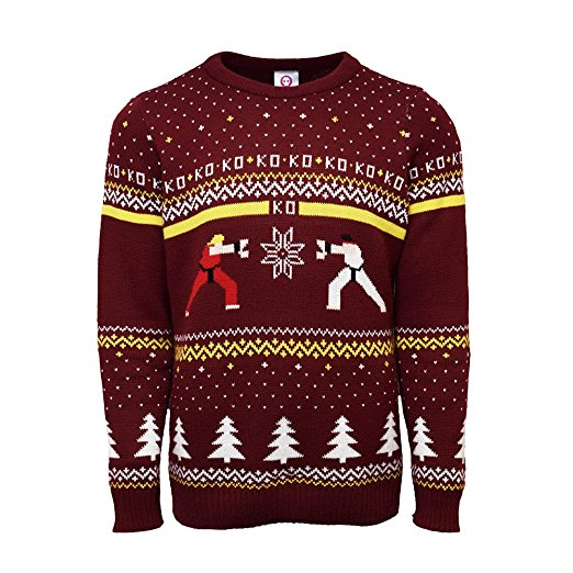 Street Fighter Ken vs Ryu ugly Christmas Sweater