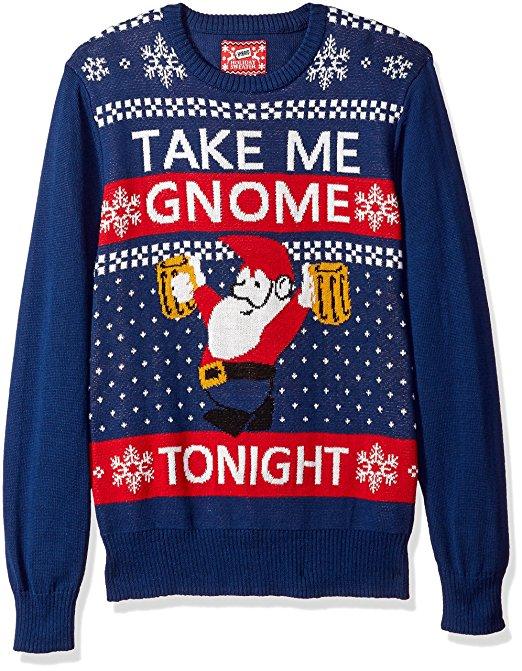 Take me Gnome tonight Ugly Christmas Sweater
