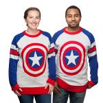 Captain America Shield Knit Sweater
