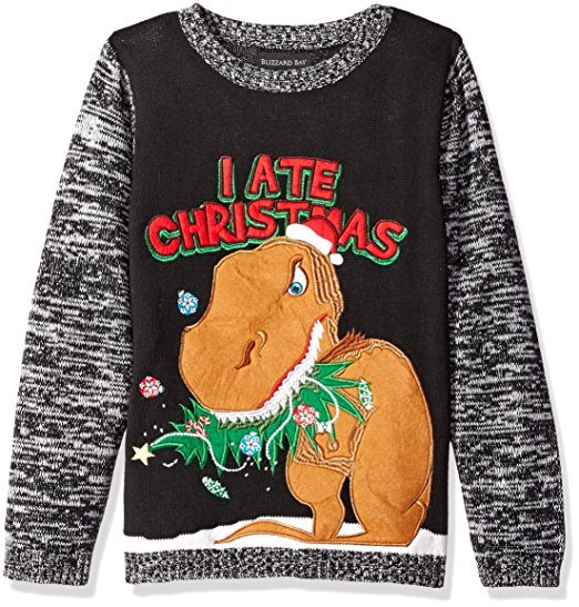 Dinosaur Ate Christmas Ugly Sweater