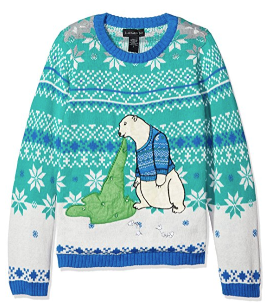 Vomiting Polar Bear Ugly Christmas Sweater