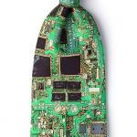 Green Microfiber Tie | Motherboard II Tie