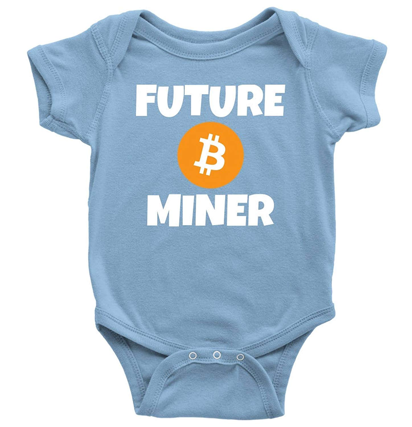 One-Piece Baby Bitcoin Shirt by InkCallies