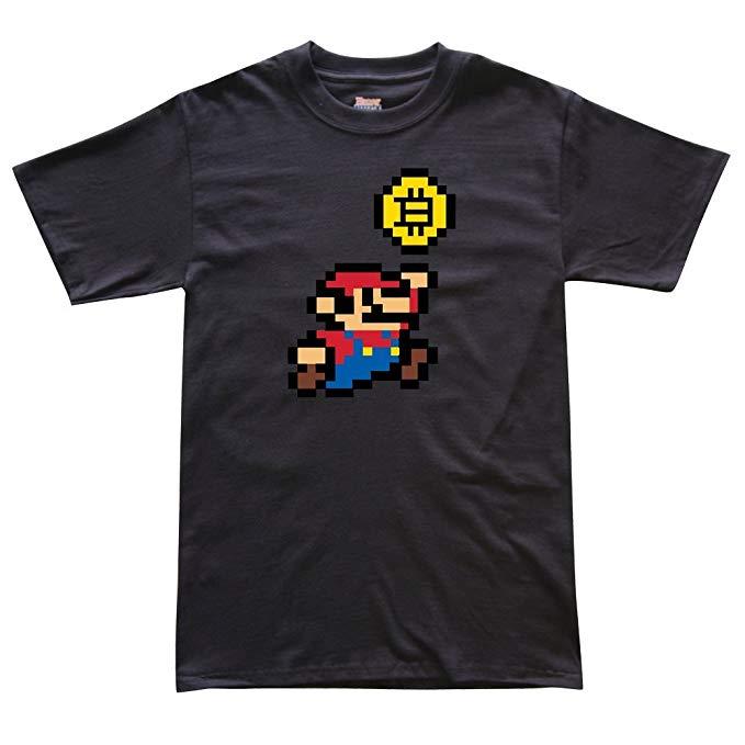 Super Mario Bitcoin Crypto T-Shirt
