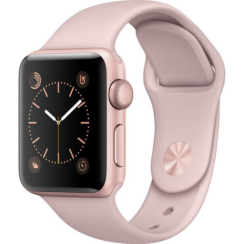 Apple Watch Series 2 Smartwatch 38mm Rose Gold Aluminum Case