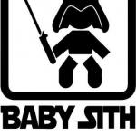 Baby Sith On Board Star Wars Funny Decal Sticker Car Motorcycle Truck Bumper Window Laptop Wall Décor Size