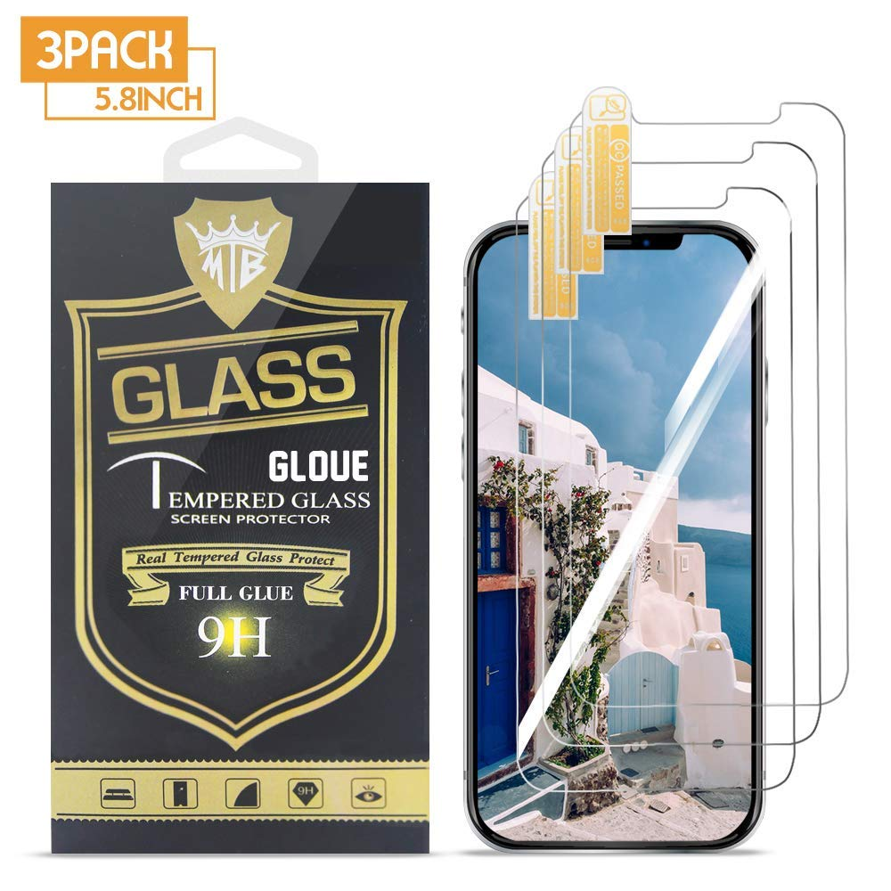 GLOUE Compatible with iPhone Xs