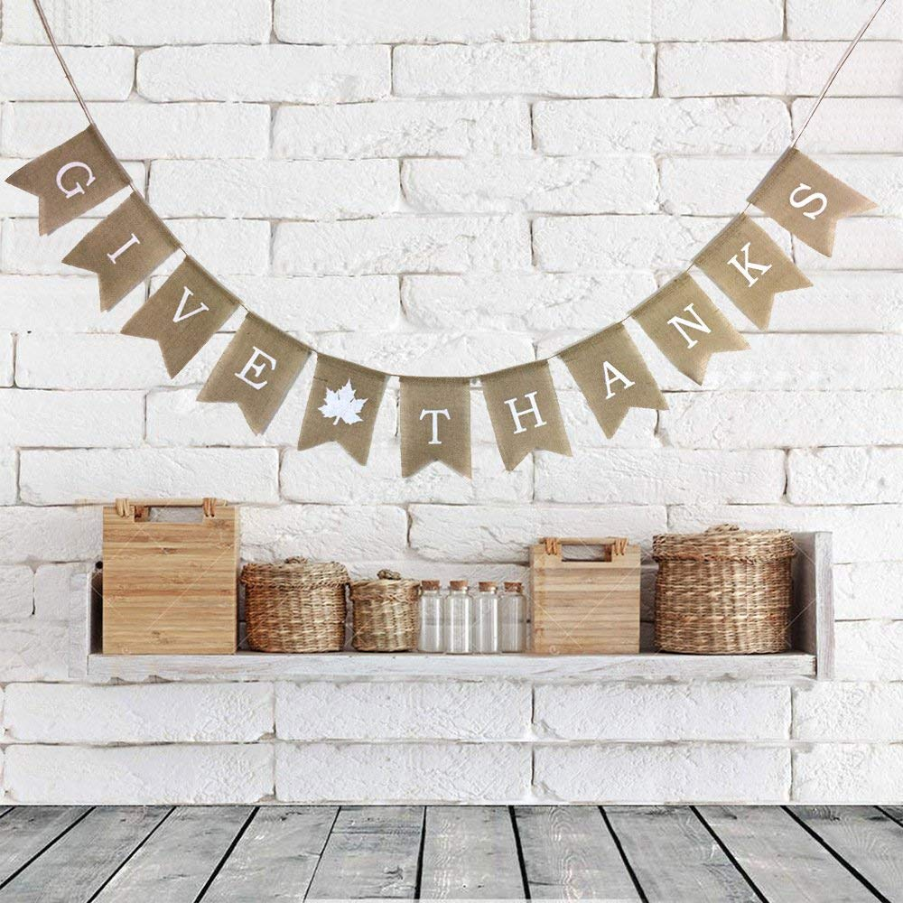 Give Thanks Thanksgiving Party Banner