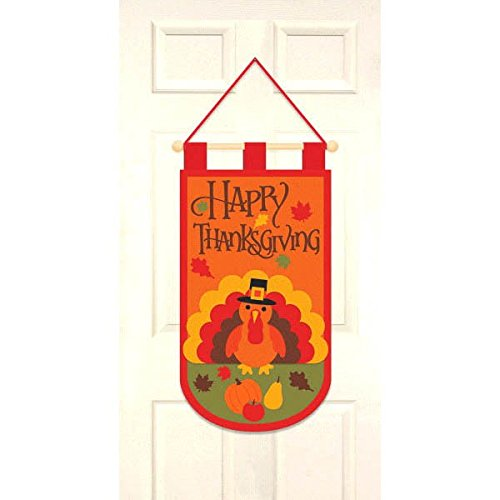 Happy Thanksgiving Turkey Door Banner