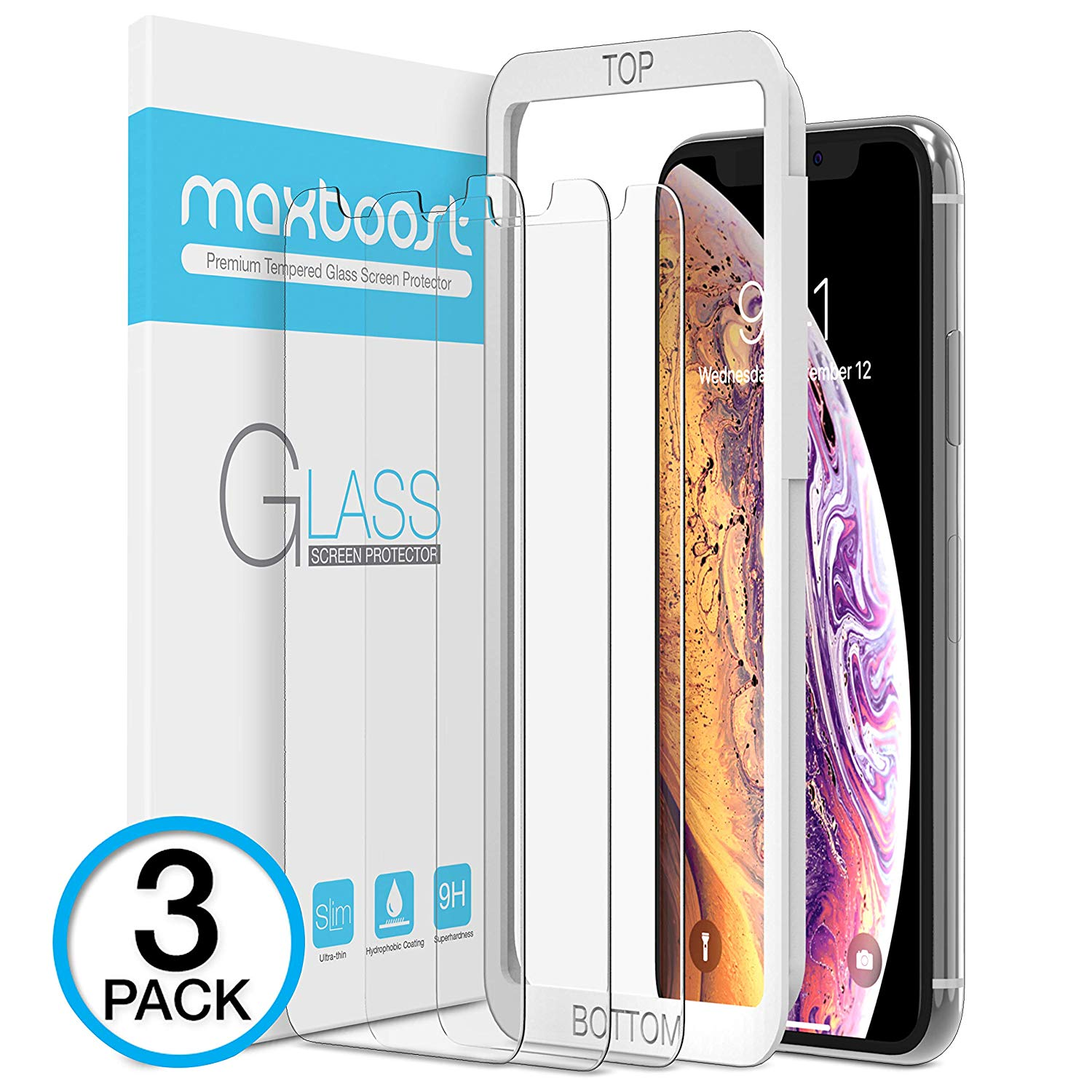 Maxboost Screen Protector for Apple iPhone XS & iPhone X