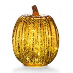 Mercury Glass Pumpkin Lights for Thanksgiving