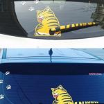 Rear Wiper 3D Cat Sticker Car Auto Window Windshield DIY Decoration Cute Animal Stickers Moving Cat Tail Sticker Cover Lovely Kit Car Decal Stickers