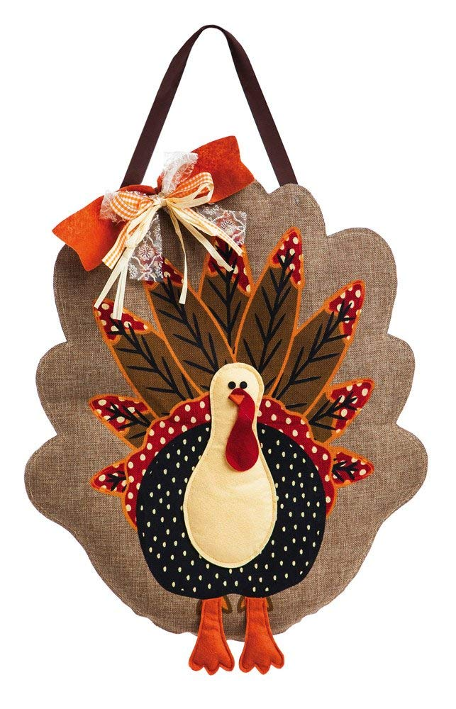 Turkey Burlap Door Decor
