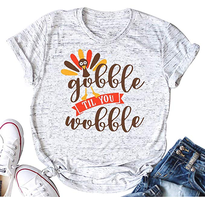 Gobble Til You Wobble Thanksgiving T-Shirt