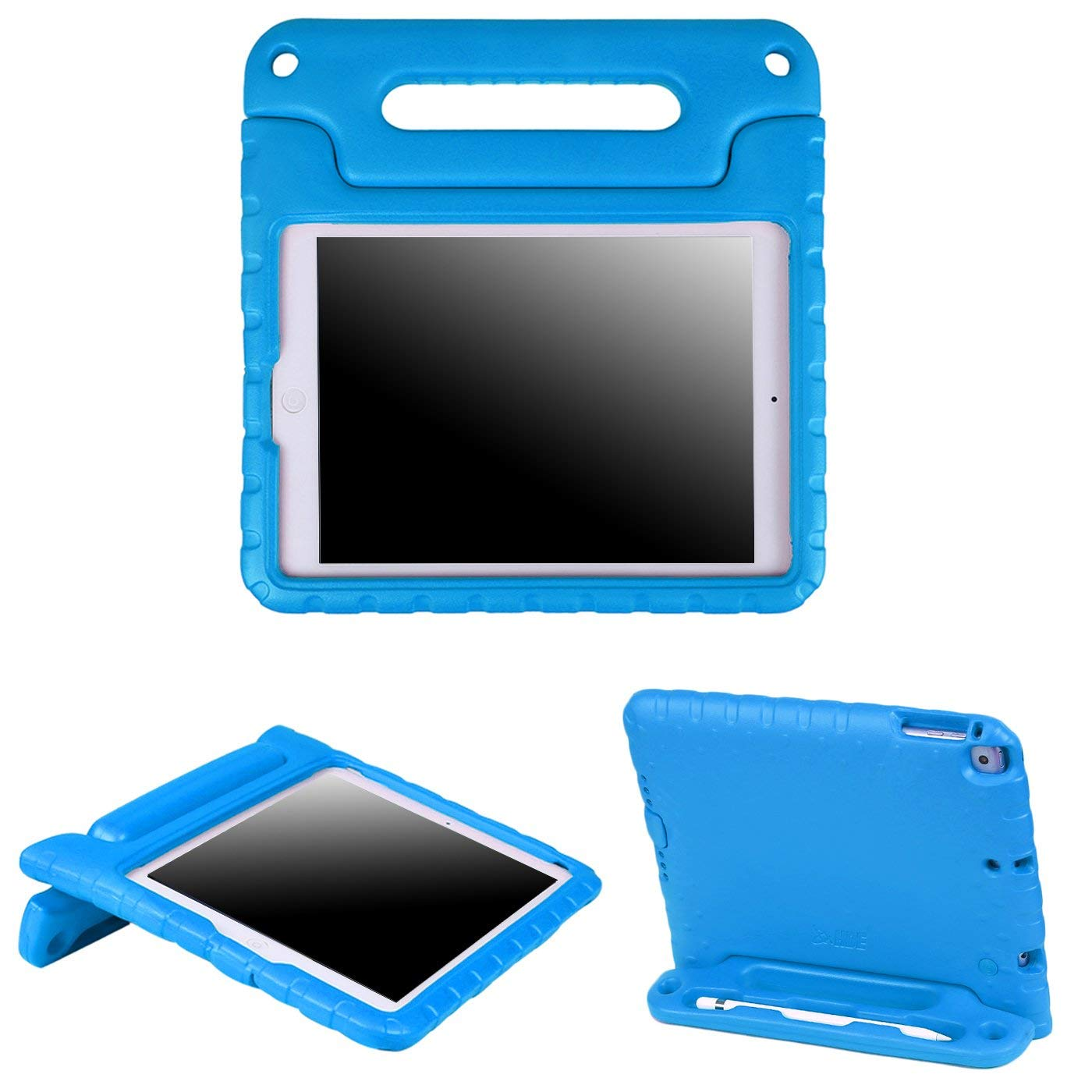 HDE Case for iPad 9.7 inch 2018 / 2017 Kids Shock Proof Bumper Cover Stand with Handle for New 6th Gen Apple Education iPad