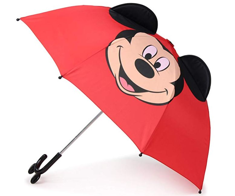 Bright Red Mickey Mouse Umbrella for Kids